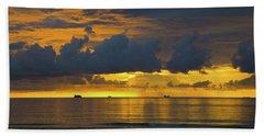 Sunrise Miami Beach Beach Towel