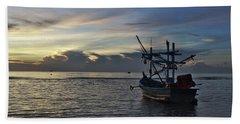 Sunrise On Koh Tao Island In Thailand Beach Towel