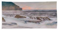 Sunrise Seascape And Headland Beach Towel