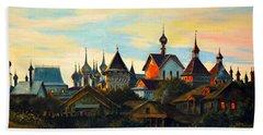 Sunset In Rostov Beach Sheet by Henryk Gorecki