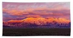 Sunset Over Mountain Range, Sangre De Beach Towel