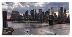 Sunset Over New York City Beach Sheet