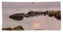 Sunset Beach Sheet by Vladimir Kholostykh