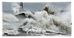 The Angry Sea Beach Towel
