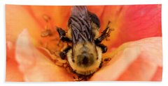 Beach Towel featuring the photograph The Bee by Cathy Donohoue
