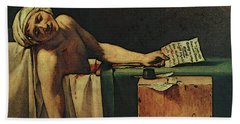 The Death Of Marat  Beach Sheet