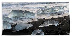 The Diamond Beach, Jokulsarlon, Iceland Beach Sheet