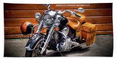 The Indian Motorcycle Beach Towel