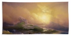 The Ninth Wave Beach Towel by Ivan Aivazovsky