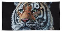 Tiger Portrait Beach Sheet