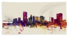 Toledo Ohio Skyline Beach Towel