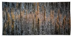 Touch Of Winter Beach Towel
