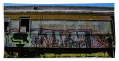Beach Towel featuring the photograph Train Art by Dart Humeston