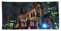 Beach Towel featuring the photograph Trinity Church - Copley Square Boston by Joann Vitali