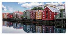 Trondheim Coastal View Beach Towel