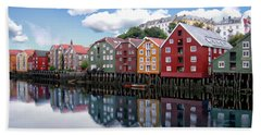 Trondheim Coastal View Beach Sheet