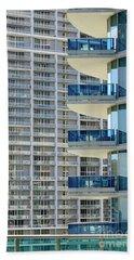 Urban Landscape, Miami, Florida Beach Towel by Craig McCausland