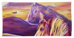 Horse World Beach Towel