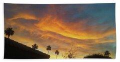 Water Colored Sky Beach Towel