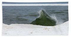 Waves Of Lake Michigan Beach Sheet