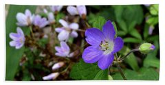 Wild Geranium Beach Sheet