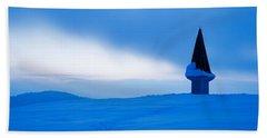 Winter Dusk Beach Towel