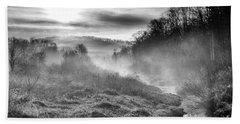 Beach Towel featuring the photograph Winter Mist by Thomas R Fletcher