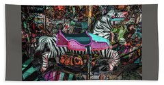 Beach Towel featuring the photograph Zebra Carousel by Michael Arend