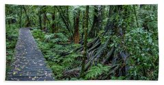 Beach Sheet featuring the photograph Forest Boardwalk by Les Cunliffe