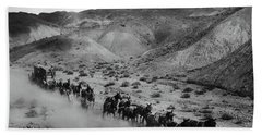 20 Mule Team Borax Hauling - Death Valley C. 1899 Beach Towel