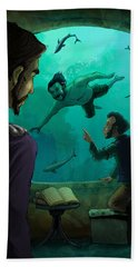 20000 Leagues Under The Sea Beach Towel