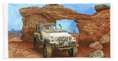 2005 Jeep Rubicon 4 Wheeler Beach Towel by Jack Pumphrey