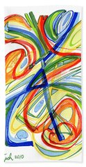 2010 Abstract Drawing Eight Beach Towel by Lynne Taetzsch