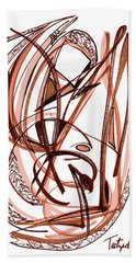 2010 Abstract Drawing Five Beach Towel by Lynne Taetzsch