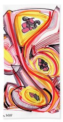 2010 Abstract Drawing Nine Beach Towel by Lynne Taetzsch