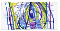 2010 Abstract Drawing Nineteen Beach Towel by Lynne Taetzsch
