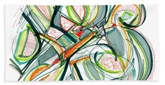 2010 Abstract Drawing Seventeen Beach Towel by Lynne Taetzsch