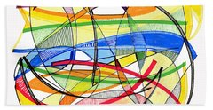 2010 Abstract Drawing Sixteen Beach Towel by Lynne Taetzsch