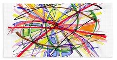 2010 Abstract Drawing Twelve Beach Sheet by Lynne Taetzsch