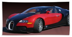 2010 Bugatti Veyron E. B. Sixteen Beach Towel by Jack Pumphrey