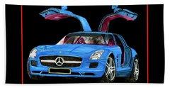 2010 Mercedes Benz S L S A Mg Beach Towel
