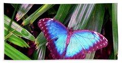 Blue Butterfly Beach Towel
