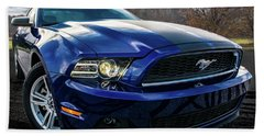 Beach Towel featuring the photograph 2014 Ford Mustang by Randy Scherkenbach