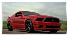 2014 Mustang Beach Towel by Tim McCullough