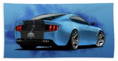 2014 Stang Rear Beach Towel