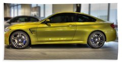 Beach Towel featuring the photograph 2015 Bmw M4 by Aaron Berg