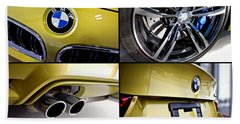 Beach Towel featuring the photograph 2015 Bmw M4 Collage  by Aaron Berg