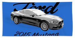 2015 Ford Mustang Beach Towel
