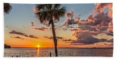 Beach Towel featuring the photograph Sunset Over Lake Eustis by Christopher Holmes