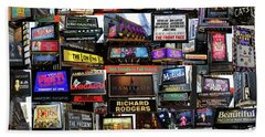 Beach Towel featuring the photograph 2016 Broadway Fall Collage by Steven Spak